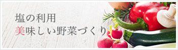 塩の利用 美味しい野菜作り